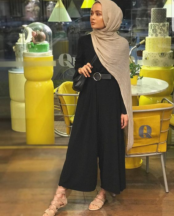 black hijab outfit ideas
