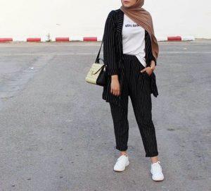 blazer outfit hijab