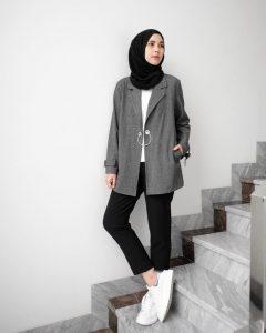 blazer style for hijab