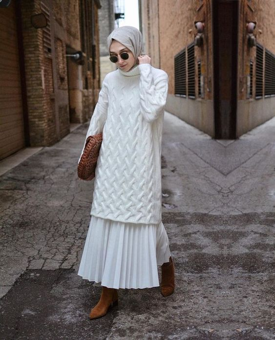 hijab and ankle boots