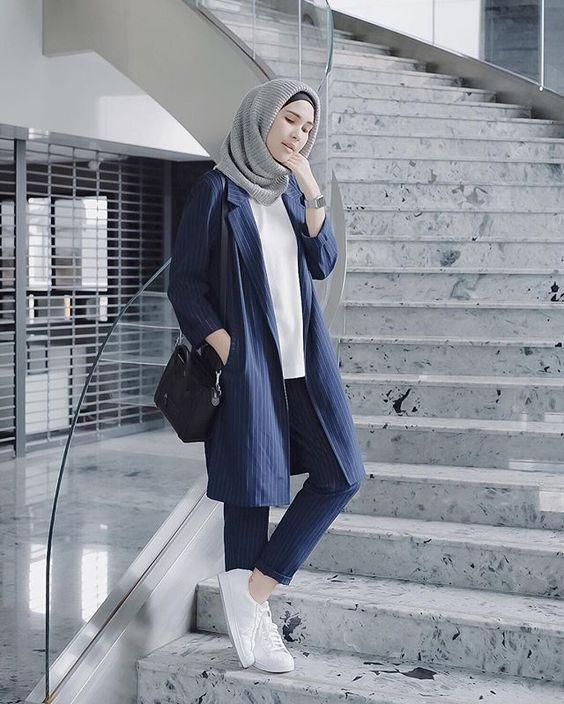 hijab outfit blazer
