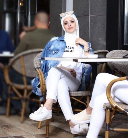 hijab white scarf