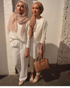 hijabis style in white