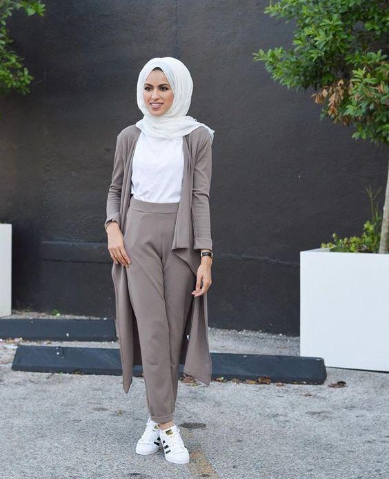 white hijab style ideas