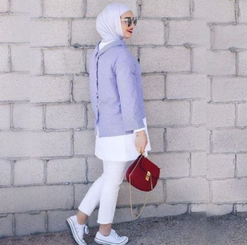 white hijab style
