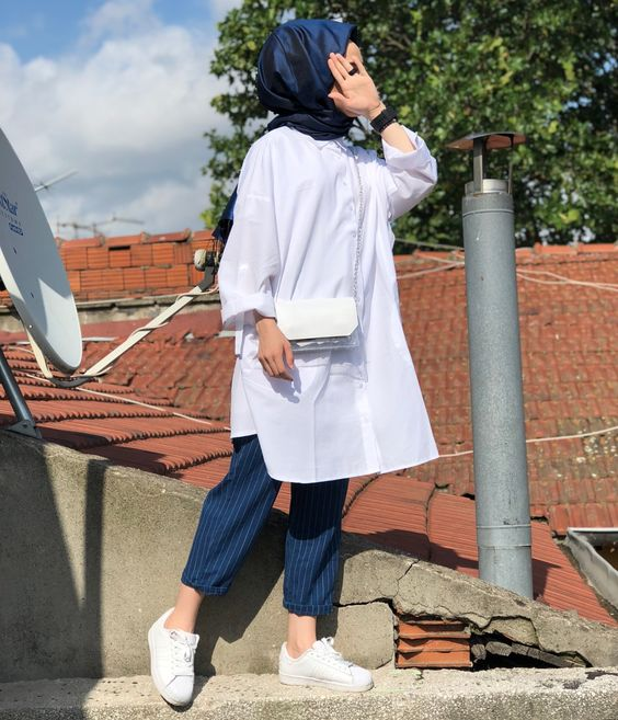 white top hijab