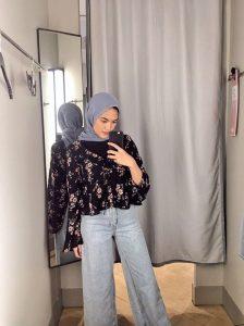 Denim Culottes hijab