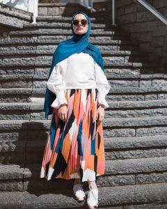 spring hijab style
