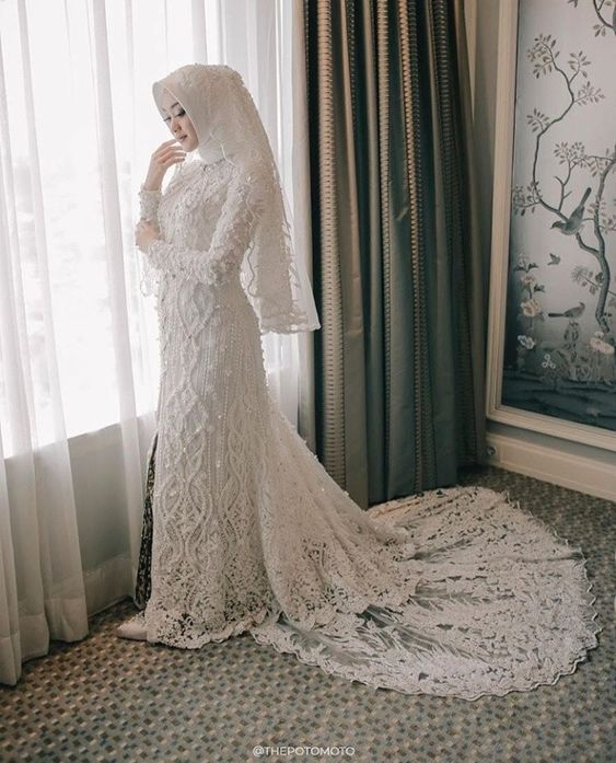 trend wedding hijab