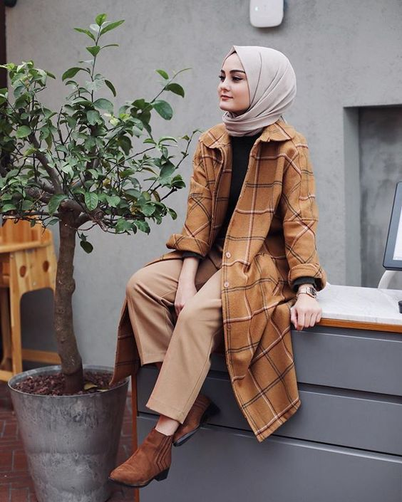 Hijab style for fall