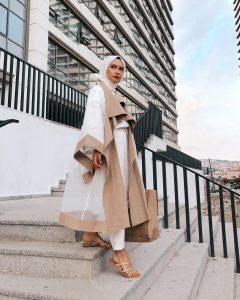 casual layering style hijab