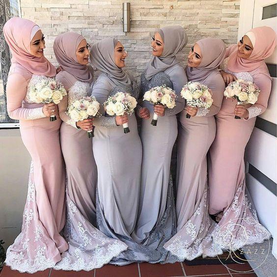 The Most Popular Hijab Bridesmaid Dresses Color Ideas