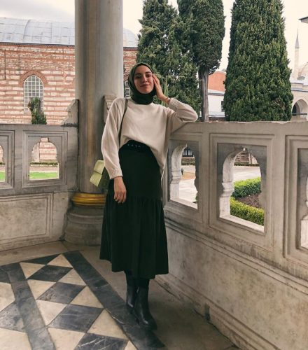 Hijab With Oversized Sweater