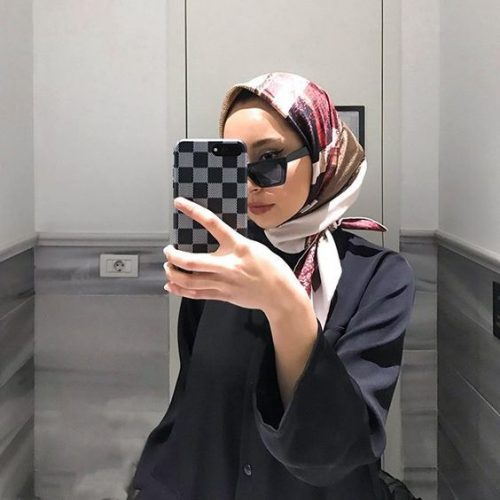 printed hijab outfit