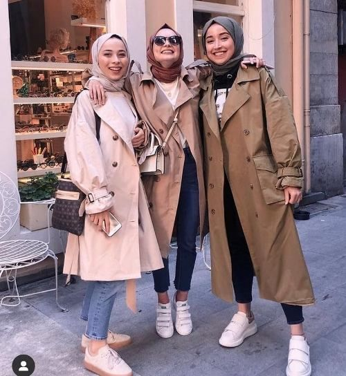 trenchoat for hijab