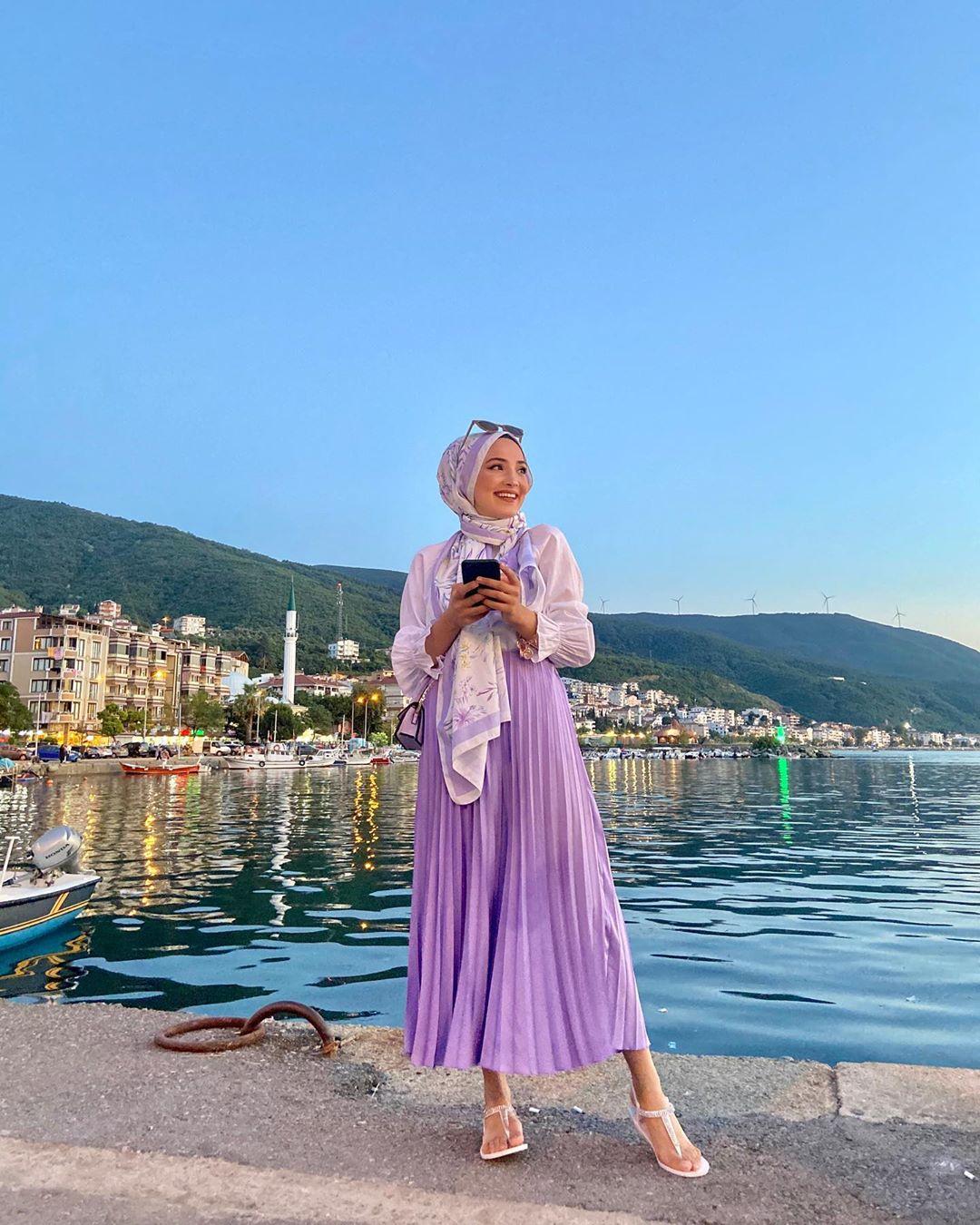 2020 Fashion Trend Lilac Hijab Outfit Ideas