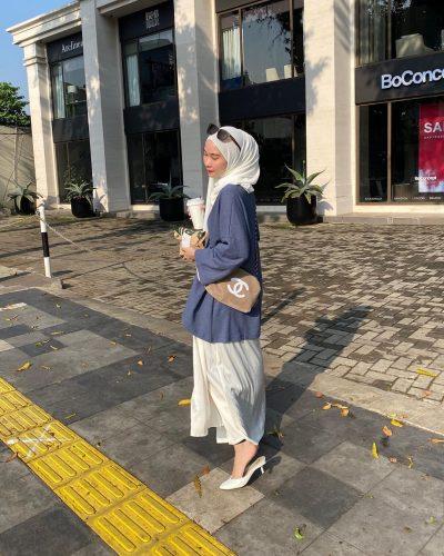 2020 Hijab Trend White Pashmina Looks