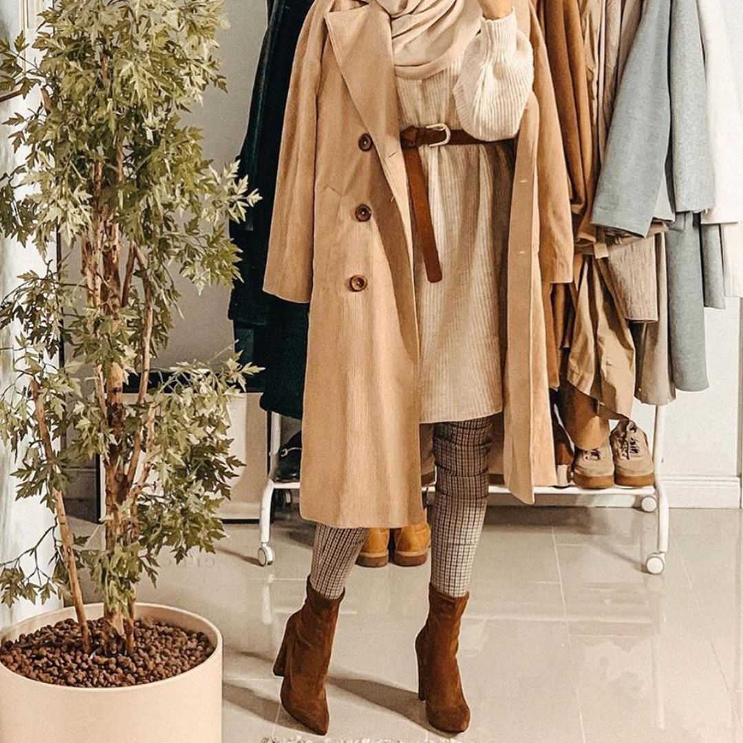 Coat for hijab outfit