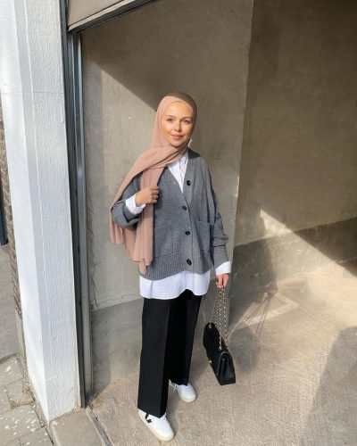 2020 Knit Trend Outfit Ideas For Hijab Style