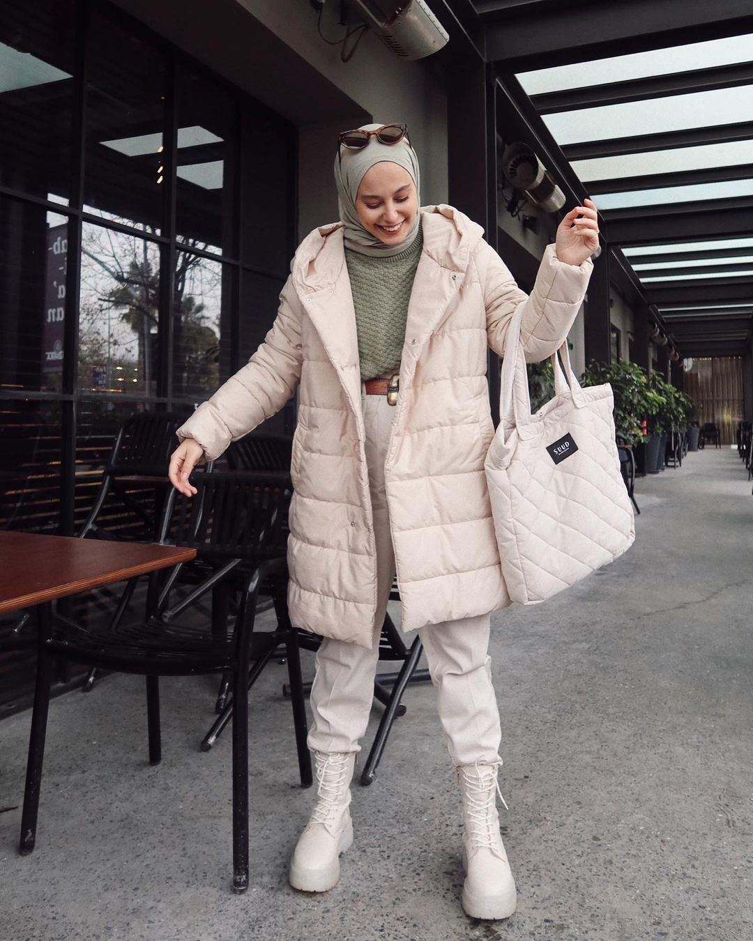 2020 Puffer Jacket Trend To Complete Your Hijab Winter Looks