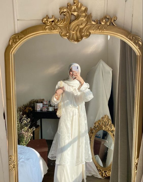 Elegant But Simple Wedding Guest Outfit For Hijabis