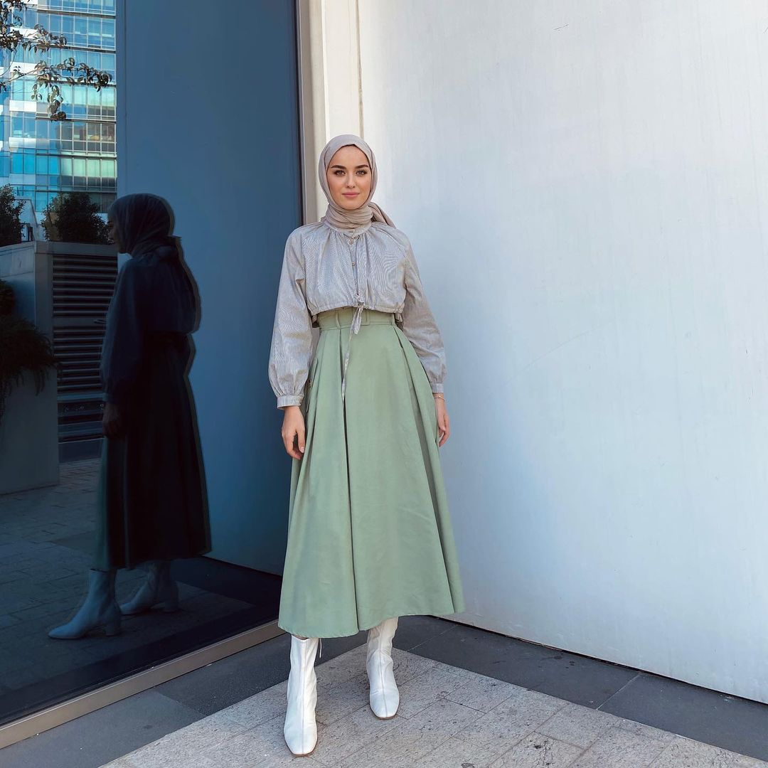 Trend 2021 Spring Hijab Outfit Ideas You Can Copy