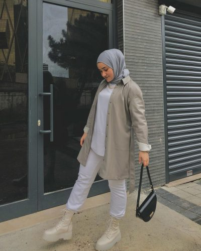 Chic Ways to Style Boots For Hijab Outfit