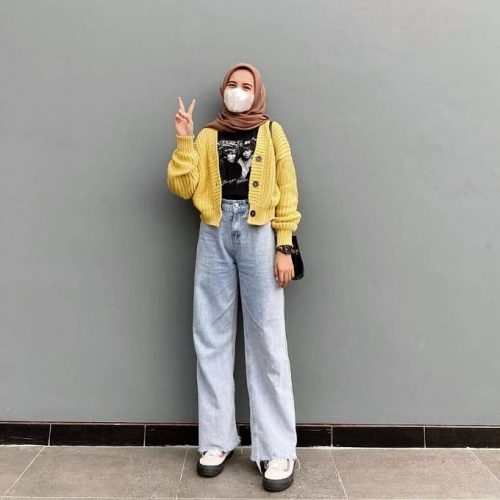 How to Style Hijab Outfit With Mask Trend