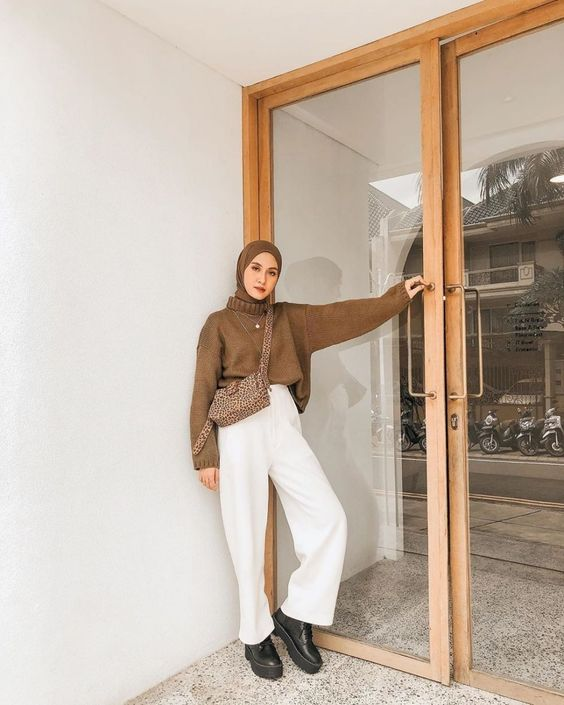 Chic Hijab Outfit Inspired By Korean Style