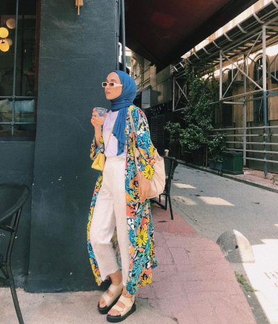 How To Style Blue For Hijab Outfit